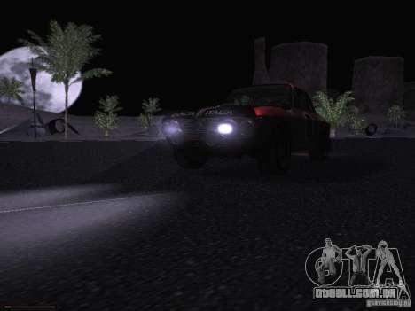 Lancia Fulvia Rally para GTA San Andreas vista superior