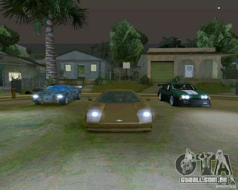 Infernus from Vice City para GTA San Andreas vista traseira