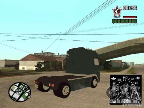DAF XF para GTA San Andreas esquerda vista