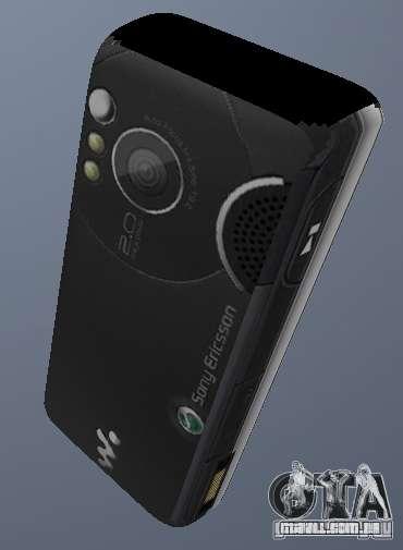 Sony Ericsson W610i para GTA San Andreas segunda tela