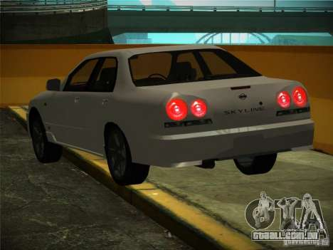 Nissan Skyline ER34 para GTA San Andreas vista interior