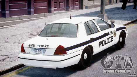 Ford Crown Victoria FBI Police 2003 para GTA 4 vista inferior