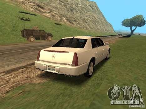 Cadillac DTS 2010 para GTA San Andreas esquerda vista