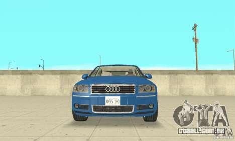 Audi A8L 4.2 FSI para GTA San Andreas interior