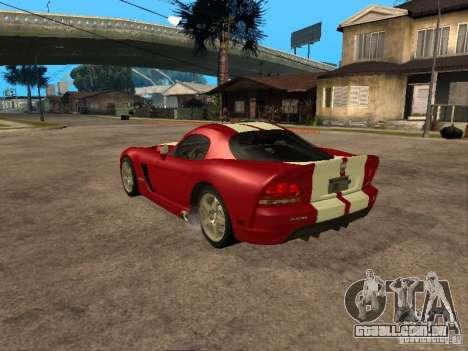 Dodge Viper para GTA San Andreas esquerda vista
