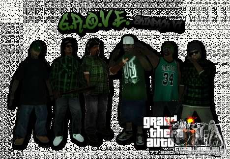 Grove Street Skin Pack para GTA San Andreas