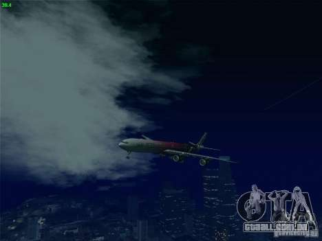 Airbus A340-600 Etihad Airways F1 Livrey para vista lateral GTA San Andreas