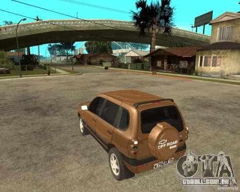 CHEVROLET NIVA Version 2.0 para GTA San Andreas esquerda vista