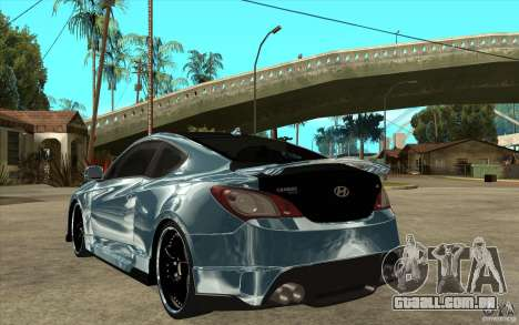 Hyundai Genesis Tuning para GTA San Andreas traseira esquerda vista