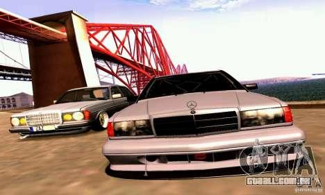 Mercedes-Benz 190E Drift para GTA San Andreas vista interior