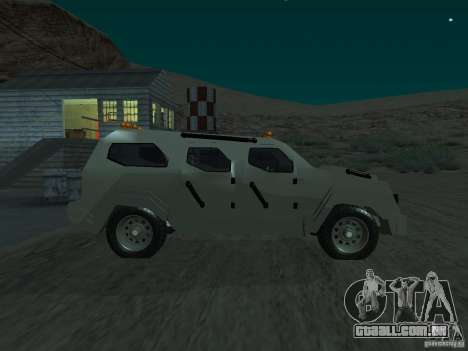 FBI Truck from Fast Five para GTA San Andreas esquerda vista
