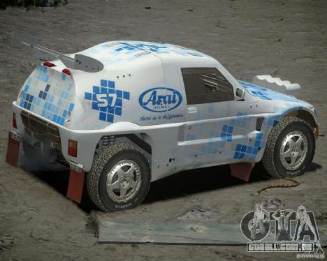 Mitsubishi Pajero Proto Dakar EK86 vinil 3 para GTA 4 vista direita