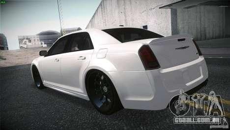 Chrysler 300 SRT8 2012 para GTA San Andreas vista traseira