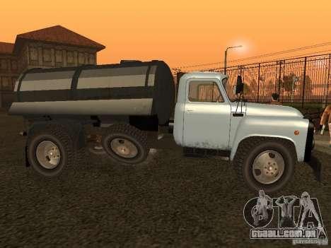 GAZ 53 Flusher para GTA San Andreas esquerda vista