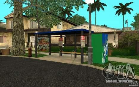Novo ponto de ônibus para GTA San Andreas segunda tela