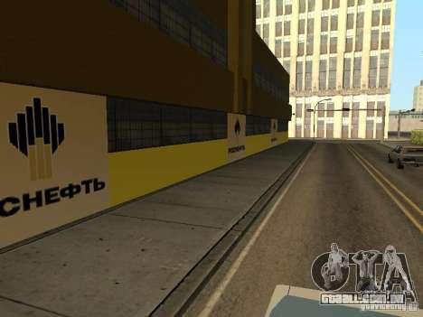 Novos postos de gasolina de texturas para GTA San Andreas por diante tela