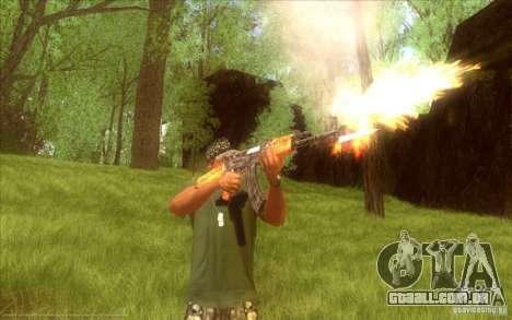 Kalashnikov HD para GTA San Andreas terceira tela
