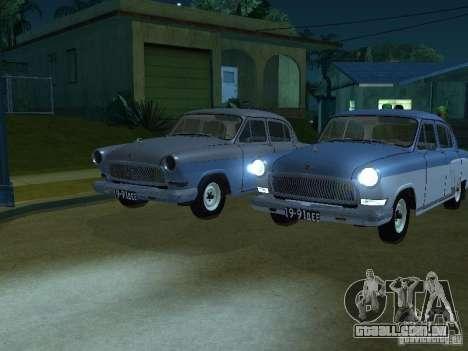 Volga GAZ 21 para GTA San Andreas vista direita