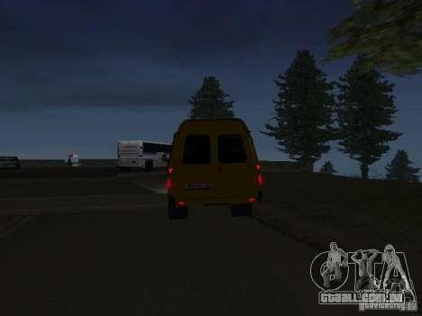 Táxi de gazela para GTA San Andreas traseira esquerda vista