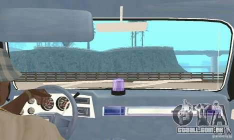 Chevrolet Suburban FBI 1986 para GTA San Andreas vista interior