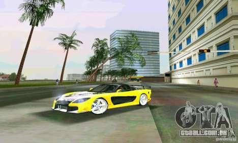 Mazda RX7 VeilSide para GTA Vice City vista traseira esquerda