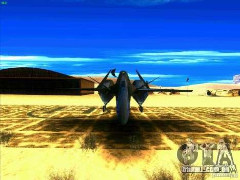 ADF-01 Falken para GTA San Andreas vista traseira