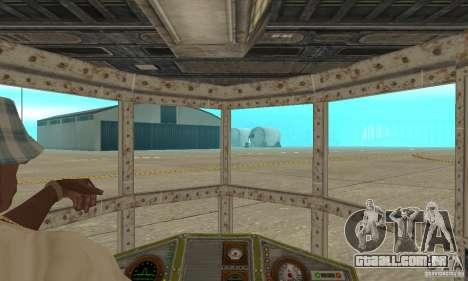 Belo avião de TimeShift para GTA San Andreas vista traseira