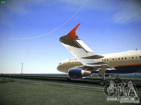 Aeroflot Russian Airlines Airbus A320 para GTA San Andreas esquerda vista
