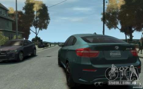 BMW X6-M 2010 para GTA 4 traseira esquerda vista