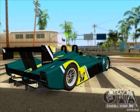 Caterham Lola SP300R para GTA San Andreas esquerda vista
