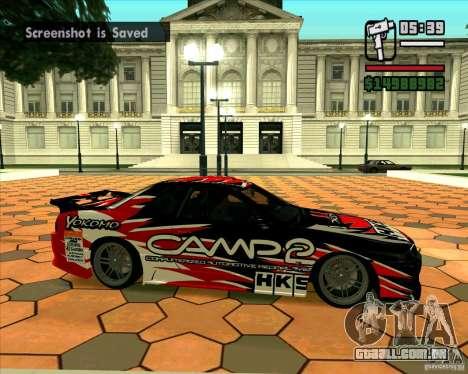 Nissan Skyline r32 para GTA San Andreas traseira esquerda vista