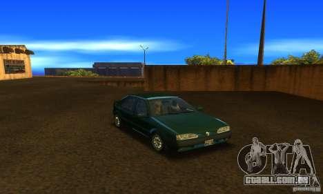 Renault 19 PHASE II para GTA San Andreas vista traseira