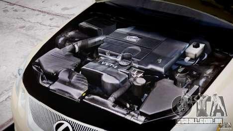 Lexus GS450 2006 Limousine para GTA 4 vista superior