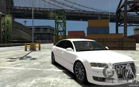 Audi A8L W12 Quattro para GTA 4 vista de volta