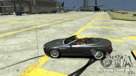 Aston Martin Volante DB9 para GTA 4 esquerda vista