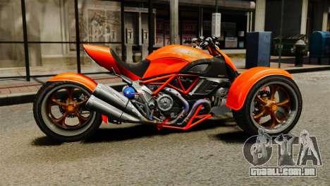 Ducati Diavel Reversetrike para GTA 4 esquerda vista