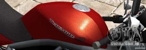 PCJ600 to Triumph StreeTTriple para GTA 4 esquerda vista