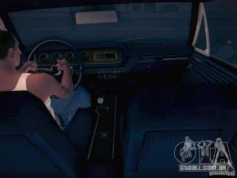 Pontiac GTO 65 para GTA San Andreas vista traseira