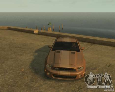 2011 Shelby GT500 Super Snake para GTA 4 vista de volta