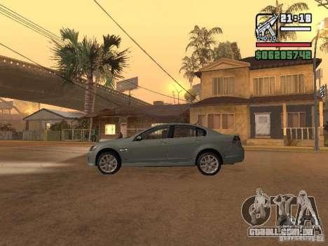Pontiac G8 GXP para GTA San Andreas