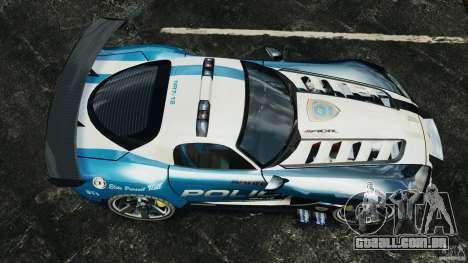 Dodge Viper SRT-10 ACR ELITE POLICE para GTA 4 vista direita