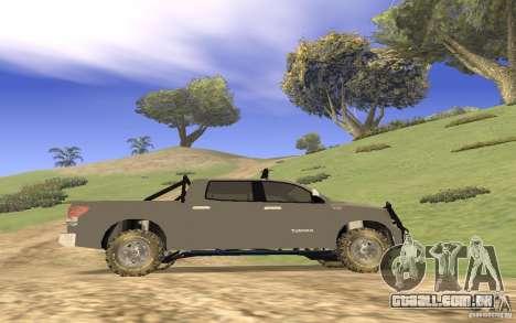 Toyota Tundra 4x4 para GTA San Andreas vista interior