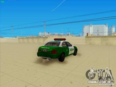 Nissan Sentra Carabineros De Chile para GTA San Andreas