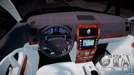 Maserati Quattroporte V para GTA 4 vista de volta