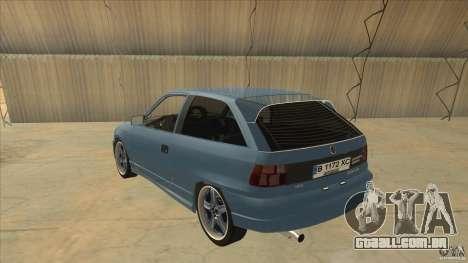 Opel Astra F Tuning para GTA San Andreas traseira esquerda vista