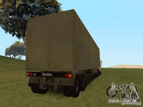 Nefaz 93344 trailer para GTA San Andreas vista traseira