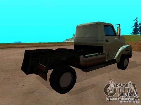 Yankee Truck para GTA San Andreas traseira esquerda vista