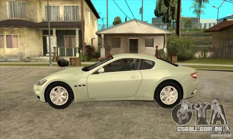 Maserati Gran Turismo 2008 para GTA San Andreas esquerda vista