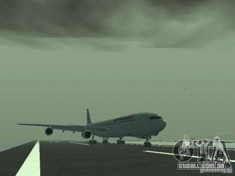 Airbus A340-300 Air France para GTA San Andreas esquerda vista