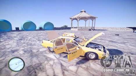 Chevrolet Caprice Taxi para GTA 4 vista superior